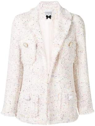 Edward Achour Paris structured tweed blazer