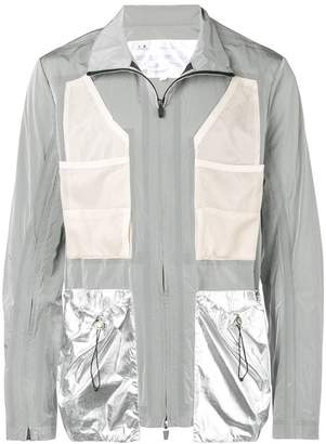 Oakley By Samuel Ross metallic panel light jacket