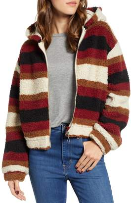 Ten Sixty Sherman Stripe Fleece Hooded Jacket