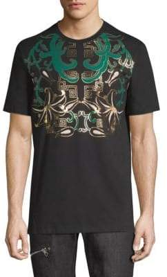 Versace Graphic Around Neck Cotton Tee