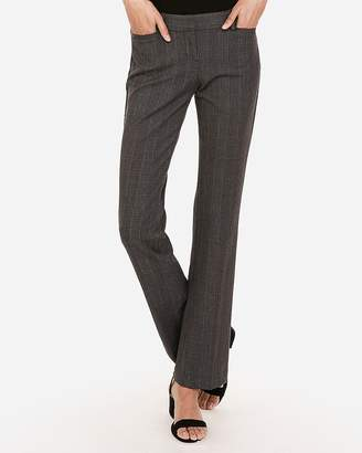 Express Low Rise Plaid Barely Boot Columnist Pant
