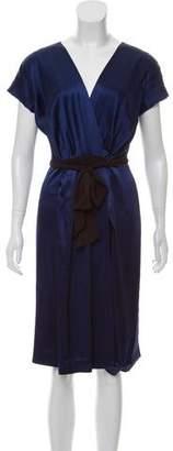 Max Mara Silk-Blend Wrap Dress