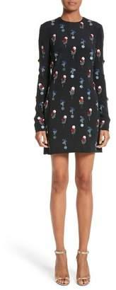 Cushnie et Ochs Beaded Silk Crepe Dress