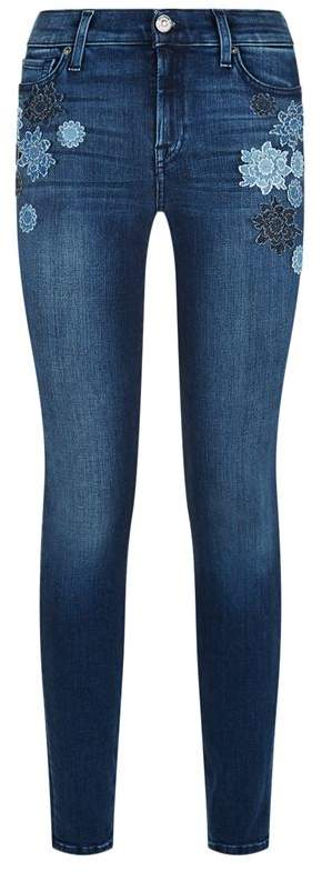 Embroidered Slim Illusion Jeans
