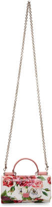 Dolce & Gabbana Pink Peonies Top Handle Wallet Chain Bag