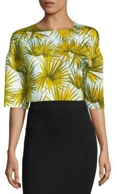 MSGM Palm Leaf Print Top