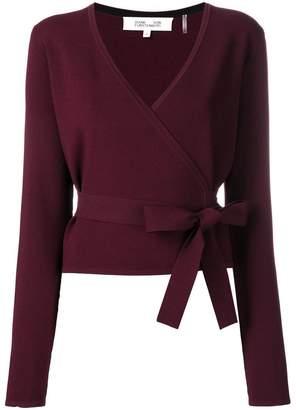 Diane von Furstenberg wrap style knitted top