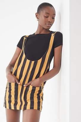 Urban Outfitters Kara Linen Striped Skirtall Overall