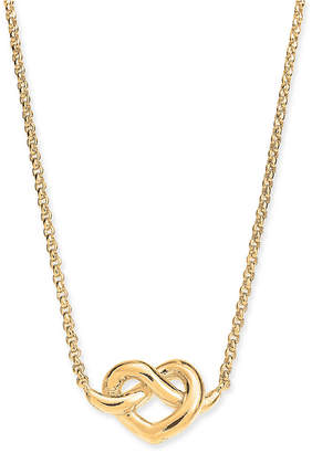 "Kate Spade Heart Knot Collar Necklace, 16"" + 3"" extender"