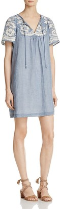 Beltaine Embroidered Chambray Dress $198 thestylecure.com