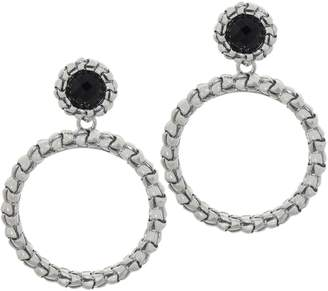 Tiffany & Co. Kay Studio Sterling Silver Purl Removable Hoop Earrings