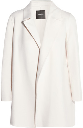 Theory - Clairene Brushed Wool And Cashmere-blend Jacket - Cream $595 thestylecure.com