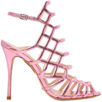 110mm Juliana Metallic Leather Sandals $266 thestylecure.com