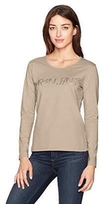 Armani Jeans Women's Long Sleeve Graphic T-Shirt