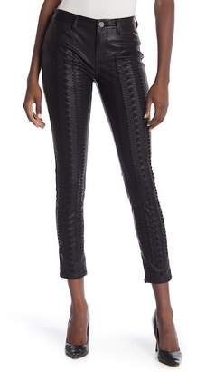 Blank NYC BLANKNYC Denim Faux Leather Lace Up Skinny Pants