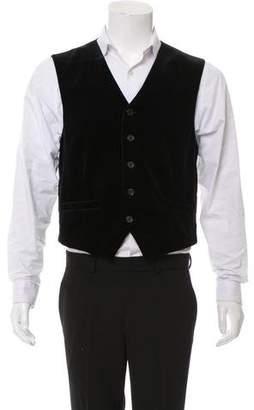 Nili Lotan Velvet Button-Up Vest w/ Tags