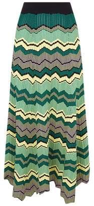 Sandro Zig Zag Knit Midi Skirt