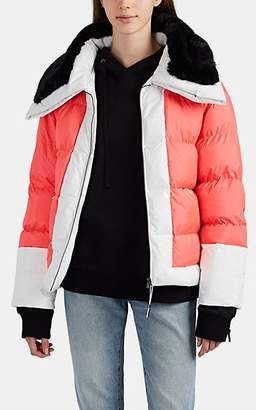 BIANNUAL Women's Faux-Fur-Trimmed Insulated Puffer Jacket - Pink