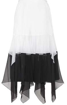 Chloé Asymmetric midi skirt