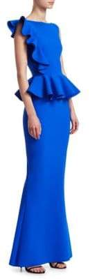 Chiara Boni Dinara Peplum Gown