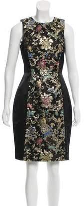 Jason Wu Floral-Accented Silk-Blend Dress