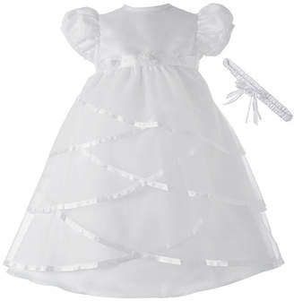 Keepsake Christening Dress and Headband Set - Girls newborn-12m