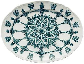 Richard Ginori 1735 Babele Green Oval Flat Platter (38.5cm)