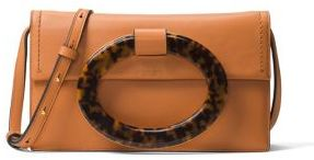 MICHAEL Michael Kors Michael Kors Collection Baxter Ring Leather Clutch