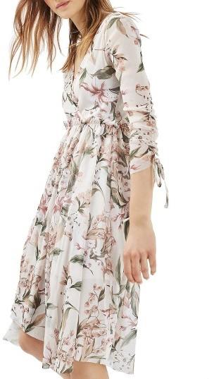 Women's Topshop Lily Floral Mesh Dress 4