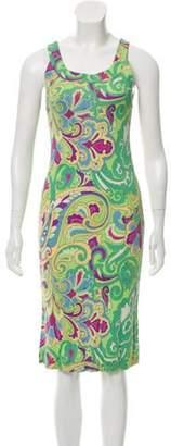 Etro Sleeveless Midi Dress Lime Sleeveless Midi Dress