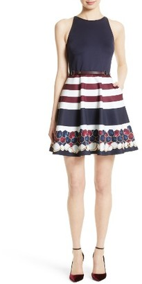 Women's Ted Baker London Rowing Stripe Skater Dress $295 thestylecure.com