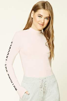 Forever 21 Nothing But Trouble Graphic Top