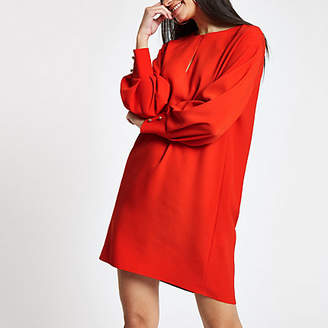River Island Red long sleeve swing dress
