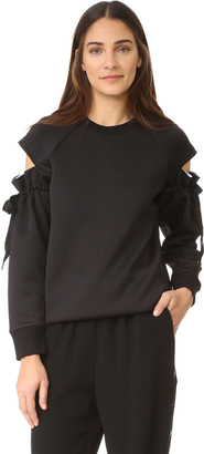 DKNY Top with Drawsting Sleeves $398 thestylecure.com