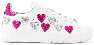 Chiara Ferragni sequin hearts sneakers
