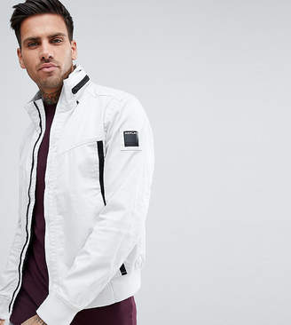 Replay lightweight taped jacket in white