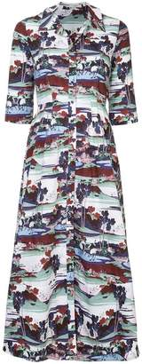 Erdem graphic print shirt dress