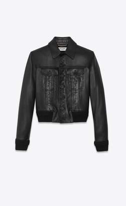 Saint Laurent Lambskin Denim Jacket
