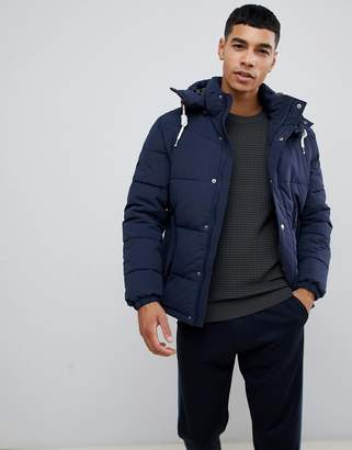 Jack and Jones Originals padded jacket with removable hood