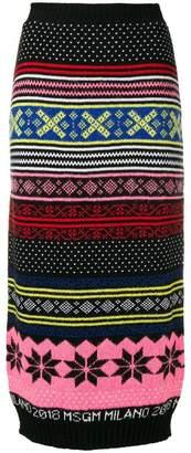 MSGM knitted tube skirt