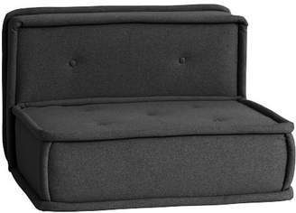 Pottery Barn Teen Cushy Lounge Armless Chair, Tweed Charcoal, QS EXEL