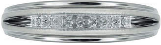 MODERN BRIDE Mens 1/10 CT. T.W. Diamond 10K White Gold 9-Stone Ring