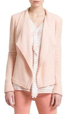DKNY Textured Drape Jacket