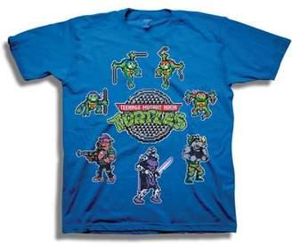 Teenage Mutant Ninja Turtles TMNT Classic Retro 8-Bit Character Sprites Boys' Short Sleeve Graphic Tee T-Shirt