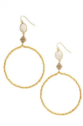 Women's Vanessa Mooney Gianna Frontal Hoop Earrings $75 thestylecure.com