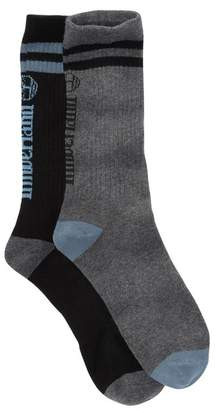 Timberland Striped Ribbed Crew Socks - Pack of 2 (Women)
