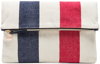 Clare V. Canvas Foldover Clutch $175 thestylecure.com