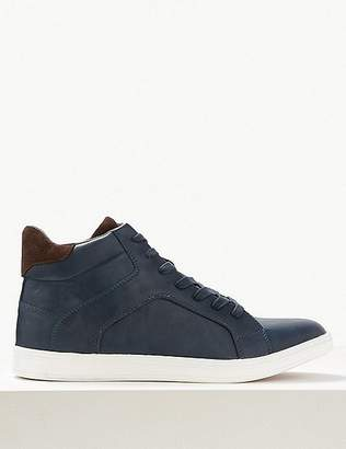 "Marks and Spencer Lace-up Casual Trainers with Freshfeetâ""¢"