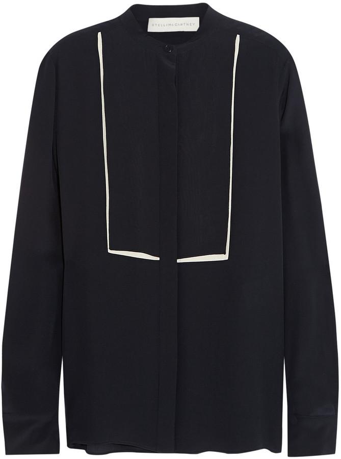 Stella McCartney Caroline Silk Crepe De Chine Shirt