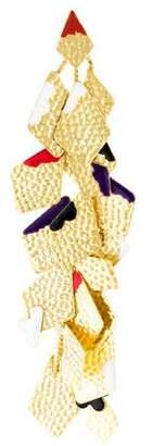 Missoni Enamel Charm Single Statement Clip-On Earring